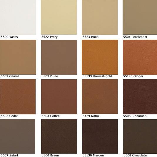 Natural Leather Color Palette