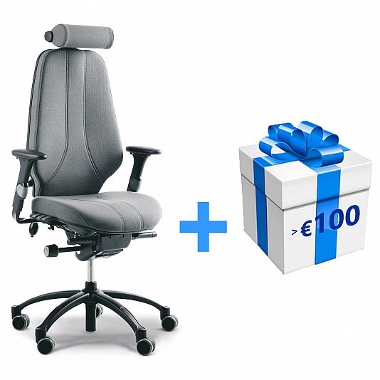 Bureaustoel Wit Leer Metalen Voet.Rh Logic 400 Bureaustoel Leder Paloma